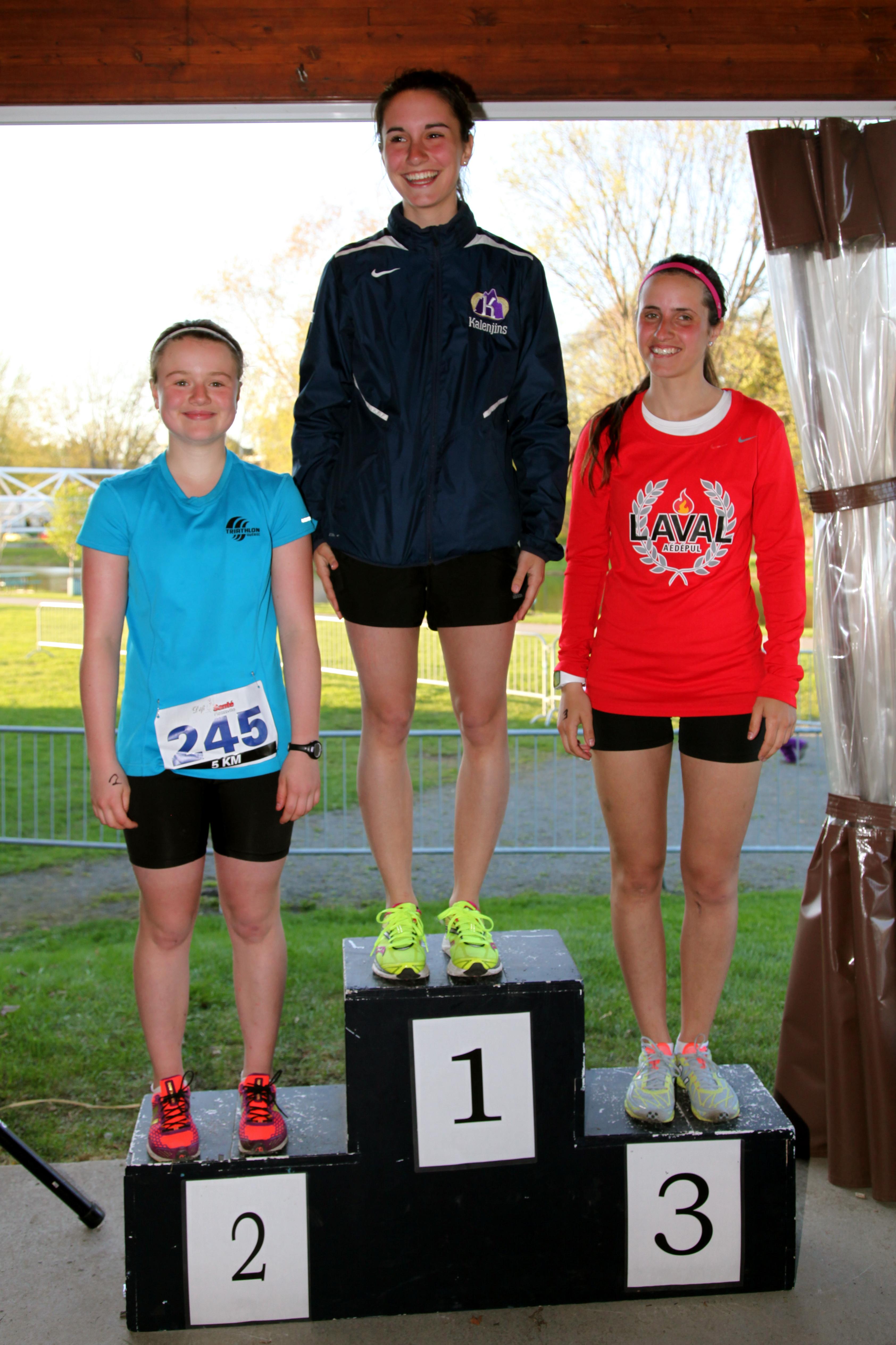 Gagnantes 5 km féminin