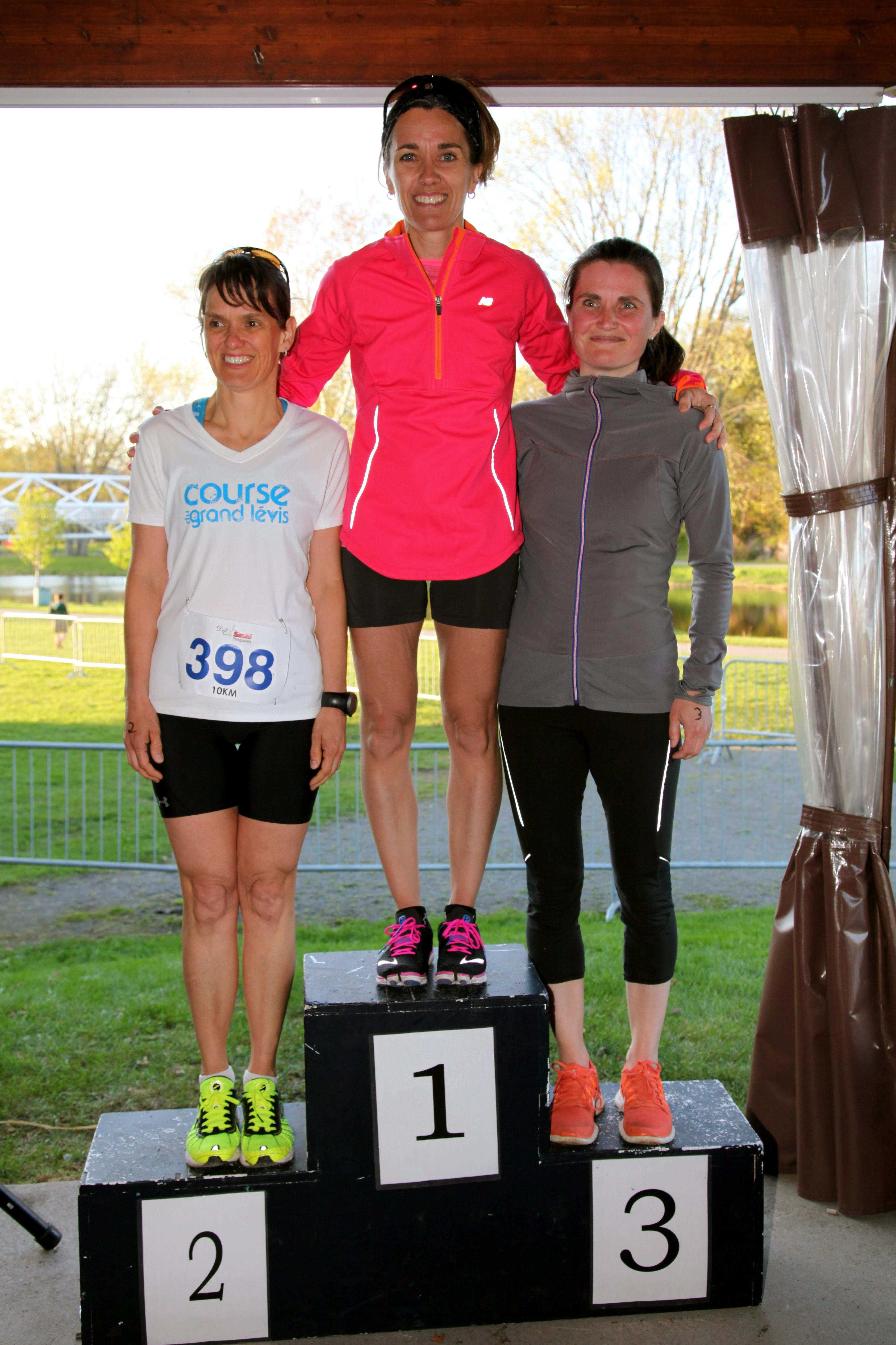 Gagnantes 10 km féminin