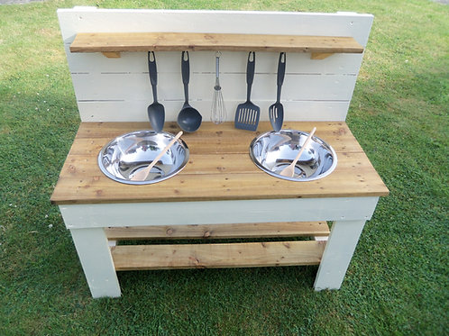 Painted Mud Kitchen- 2 Bowls (95cm)