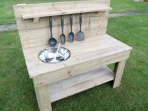 Untreated Mud Kitchen - 1 Bowl (95cm)