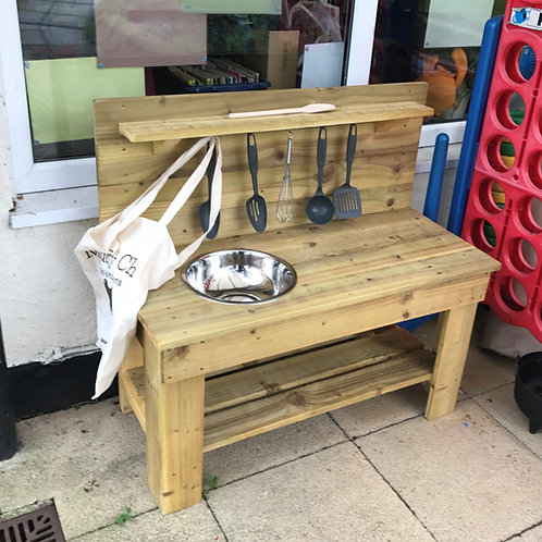 Treated Mud Kitchen - 1 Bowl (95cm)