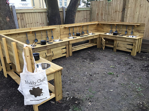MEGA MUD STATION! Custom-Made Treated Corner / U-Shaped Mud Kitchen