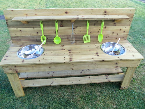 Treated Mud Kitchen - 2 Bowls (140cm)