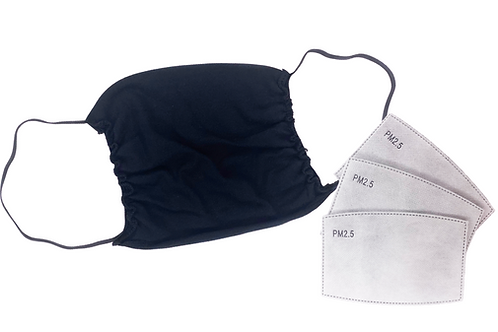 Antimicrobial Pocket Mask w/ Replaceable Filters (10-pack)
