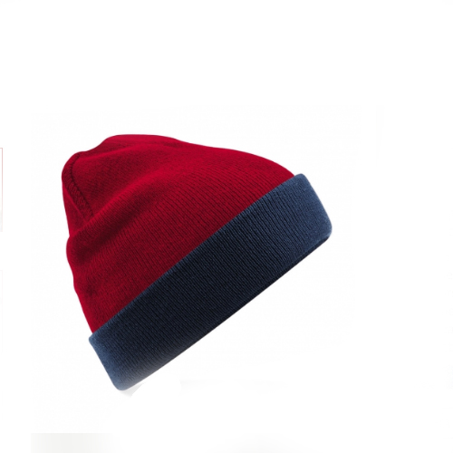 beanie rojo azul