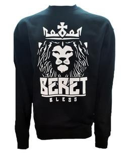 Sudadera unisex negra S.C. Beret Bless