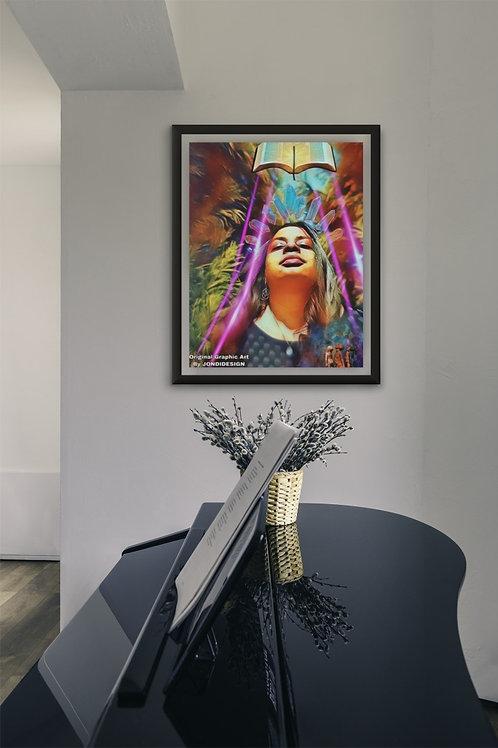 """DIVINE POWER"" DIGITAL ART Poster"