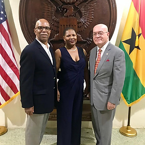 Reception with U.S. Ambassador to Ghana Robert Jackson (Accra, Ghana)