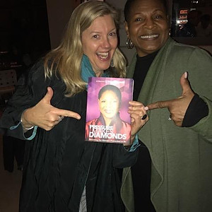 "In New York with author ( ""When We Are Bold"" ) Rachel Vincent, our ""blonde niece"
