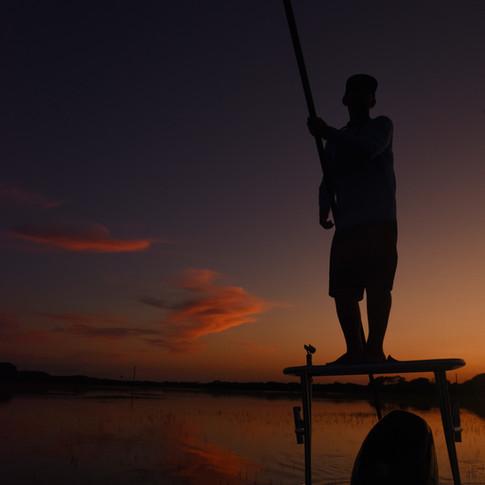Fishing at dusk in North Carolina