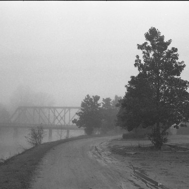 Fog and canal trail