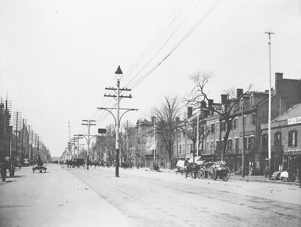 Greene Street in the early 1900s