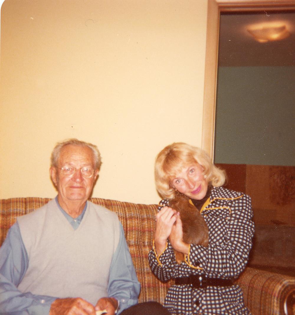 My Grandfather, Ed with my Mom around 1975