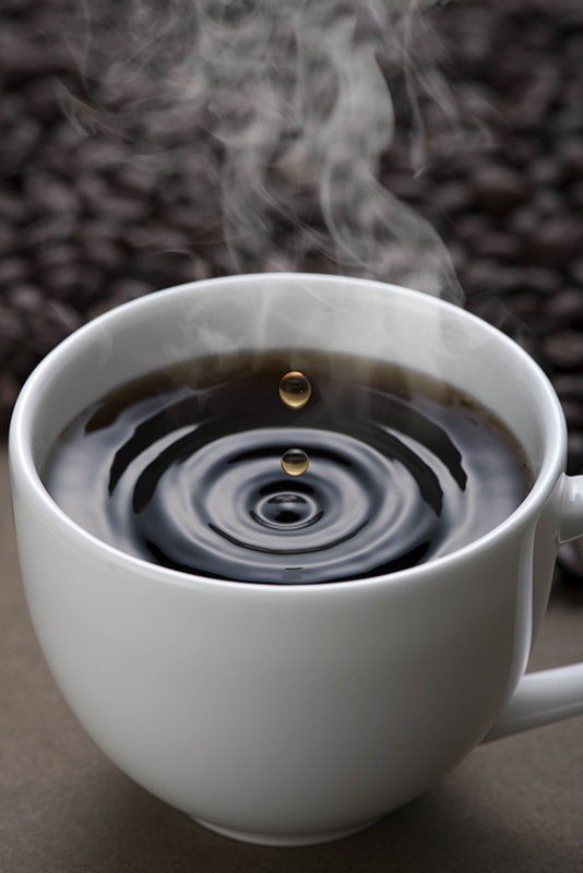 A drop of coffee