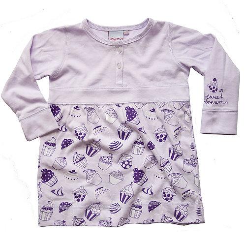 """Mädchen-Pyjama """"Cupcakes"""" im Tunika-Stil mit passenden Leggins"""