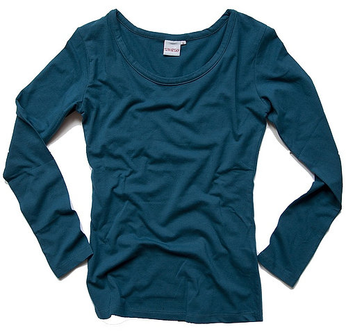 Basic Langarmshirt zwazo WOMAN - blaustein