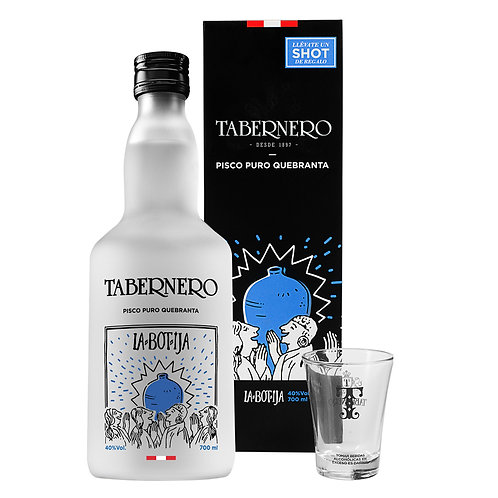 La Botija Pisco Quebranta Tabernero 700 Ml + Shot