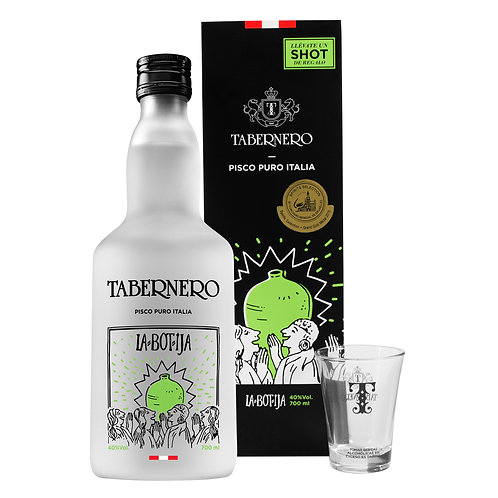 La Botija Pisco Italia Tabernero 700 Ml + Shot