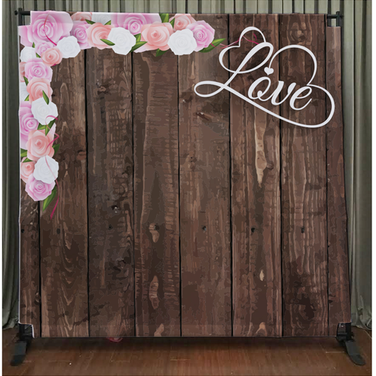 Dark Wood with Love & Flowers