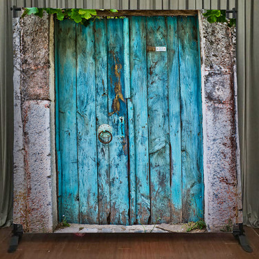 Rustic Blue Doors