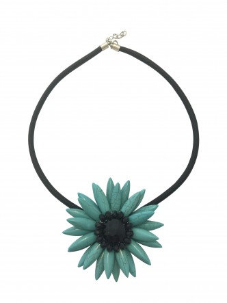Flower Necklace Aqua