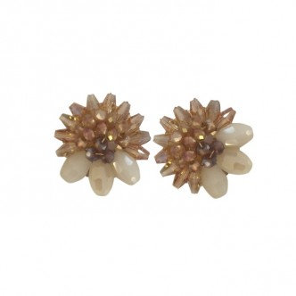 Bead Cluster Earring Gold