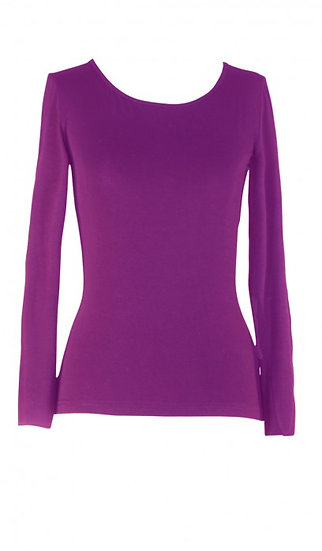 Core Long Sleeve Top Purple