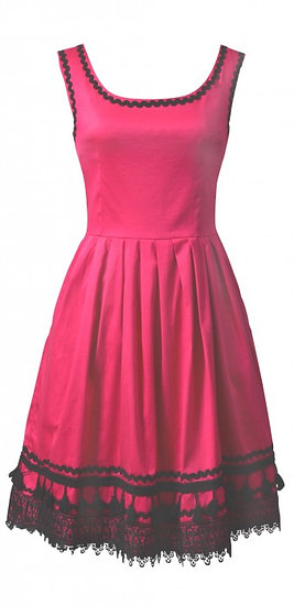 Ramona Braid Dress Pink