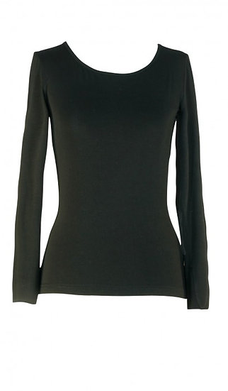Core Long Sleeve Top Black