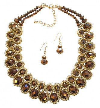 Emperor Necklace Set Gold/Bronze