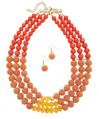 Poppy Necklace Set Orange