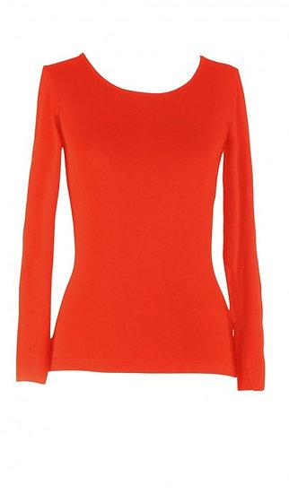 Core Long Sleeve Top Mandarin Red