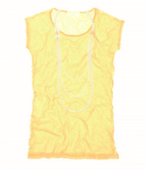 Crush Cap Sleeve Yellow
