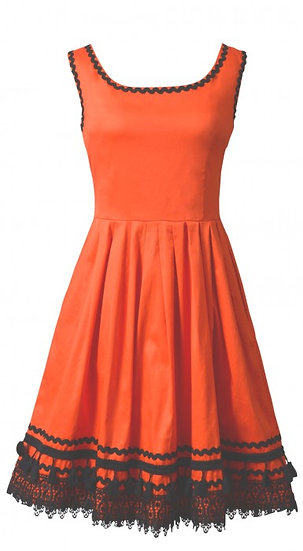 Ramona Braid Dress Orange