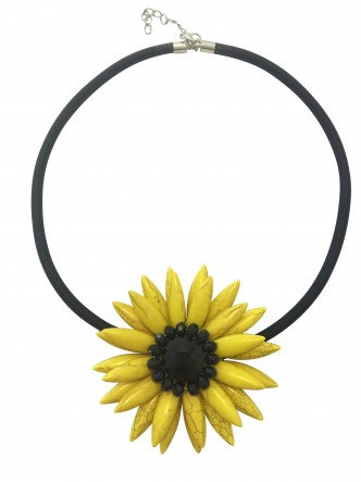 Flower Necklace Yellow