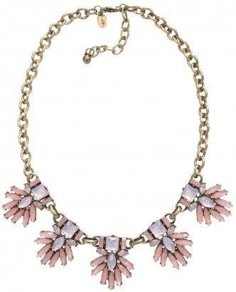 Iris Necklace Pink/Gold