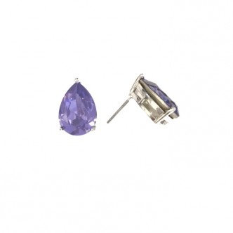 Teardrop Stud Purple