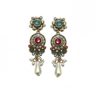 Royal Earrings Fuschia/Teal