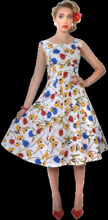 Sally Flip Dress White