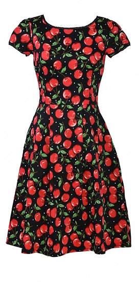 Cherry Pleat Dress