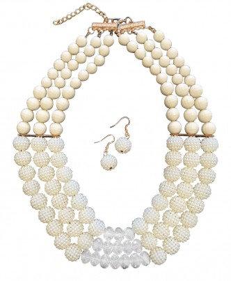 Poppy Necklace Set Ivory