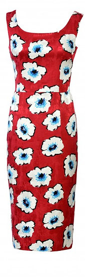 Lindy Fitted Dress Red