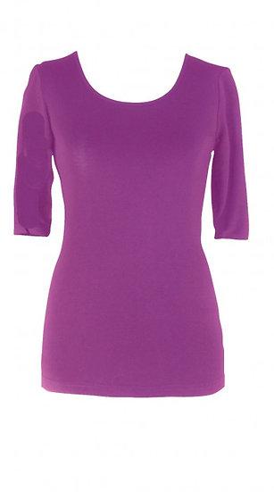 Core Elbow Top Purple