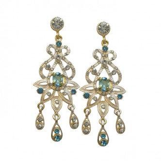 Dazzle Earrings Aqua