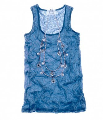 Scoop Neck Top Cornflower Blue