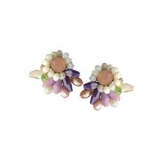 Pearly Cluster Earring