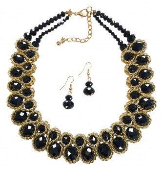 Emperor Necklace Set Gold/Black