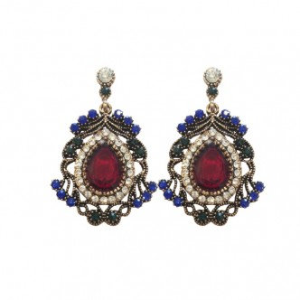 Diana Earrings Red/Blue