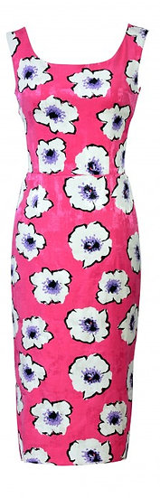 Lindy Fitted Dress Pink