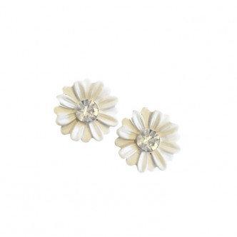 Daisy Earring White
